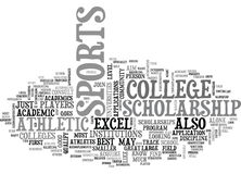Athletic College Scholarshipword Cloud Royalty Free Stock Photo