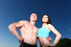 Athletic couple Royalty Free Stock Photography