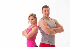 Athletic couple Stock Photography