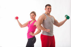 Athletic couple Royalty Free Stock Photos