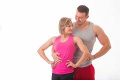 Athletic couple Royalty Free Stock Photo