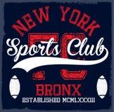 Athletic Dept. New york  Varsity Sport vector print and varsity. Royalty Free Stock Image