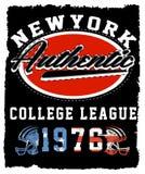 Athletic Dept. New york  Varsity Sport vector print and varsity. Royalty Free Stock Photos