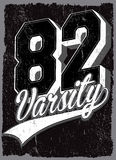 Athletic Dept. New york; Varsity Sport vector print and varsity. Stock Photography