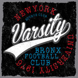 Athletic Dept. New york; Varsity Sport vector print and varsity. For t-shirt or other uses in vector.T shirt graphic fashion style Royalty Free Illustration