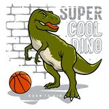 Athletic dino 006 royalty free stock image