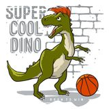Athletic dino 008 royalty free stock image