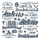 Athletic elements with shabby texture Royalty Free Stock Image