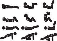 Athletic Exercise. Illustration - Athletic Exercise icon set Royalty Free Stock Images