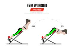 athletic exercises Γυμναστική workout Hyperextension στη ρωμαϊκή καρέκλα Απεικόνιση ενός ενεργού διανύσματος τρόπου ζωής ελεύθερη απεικόνιση δικαιώματος