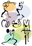 Athletic exercises. Symbols of athletic exercises in the gym Royalty Free Stock Photos
