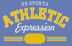 Athletic expression Stock Image