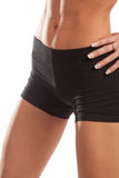Athletic female belly Stock Image
