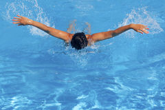Athletic female swimmer Stock Photos