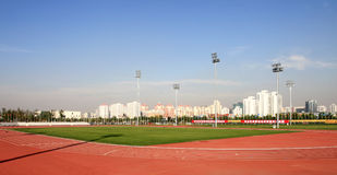 Athletic field in beijing Royalty Free Stock Photo