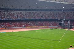 Athletic fields. The National Stadium(also named Bird's nest ) of beijing 2008 Olympic game Stock Image