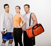 Athletic friends in sportswear Royalty Free Stock Photo