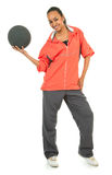 Athletic girl with a ball Royalty Free Stock Images