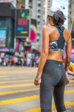Athletic girl at Causeway Bay Stock Photography