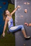 Athletic girl climbing Royalty Free Stock Photos