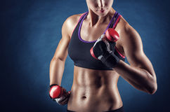 Athletic girl Royalty Free Stock Photography