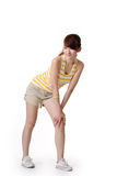 Athletic girl excise Stock Photo