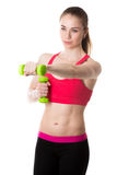 Athletic girl exercising Royalty Free Stock Images