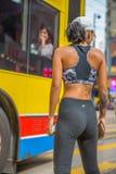 Athletic girl in Hong Kong Royalty Free Stock Photo