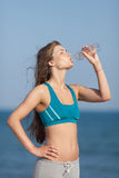 Athletic girl on open air Royalty Free Stock Images