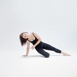 Athletic girl posing in Studio, place for your Stock Photos