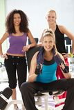 Athletic girls at the gym Royalty Free Stock Image