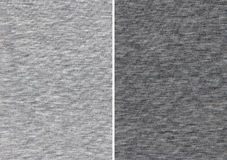 Athletic Gray Textile Swatches. Texture of an Light and Dark Gray Cotton Textile royalty free stock image