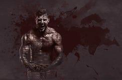 Athletic handsome man. Digital art Royalty Free Stock Image