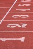 Athletic lanes Royalty Free Stock Photos