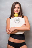 Athletic-looking young sexy girl Stock Images