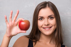 Athletic-looking young girl Stock Image