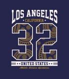 Athletic Los Angeles California Vector imaga Royalty Free Stock Photos