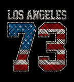 Athletic Los Angeles. T-shirt graphics, vectors graphic design Royalty Free Stock Photos