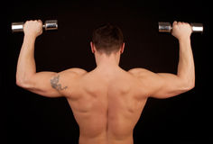 Athletic male from behind Royalty Free Stock Photo