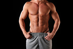 Athletic male body royalty free stock photo