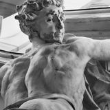 Athletic male torso (statue) Royalty Free Stock Photography