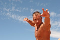 Athletic man stock photos