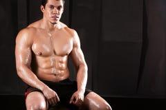 Athletic man. stock photos
