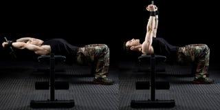 Athletic Man Exercising stock photos