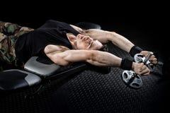Athletic Man Exercising stock image
