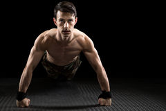 Athletic Man Exercising royalty free stock photography