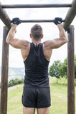 Athletic man exercising and training, outdoor. royalty free stock images