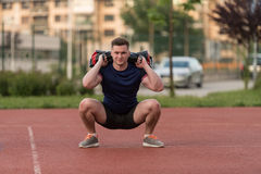 Athletic Man After Fitness Exercise Outdoor Royalty Free Stock Images