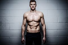 Athletic man in The Gym's Studio Royalty Free Stock Photography