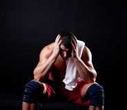 Athletic man during his training Royalty Free Stock Photography